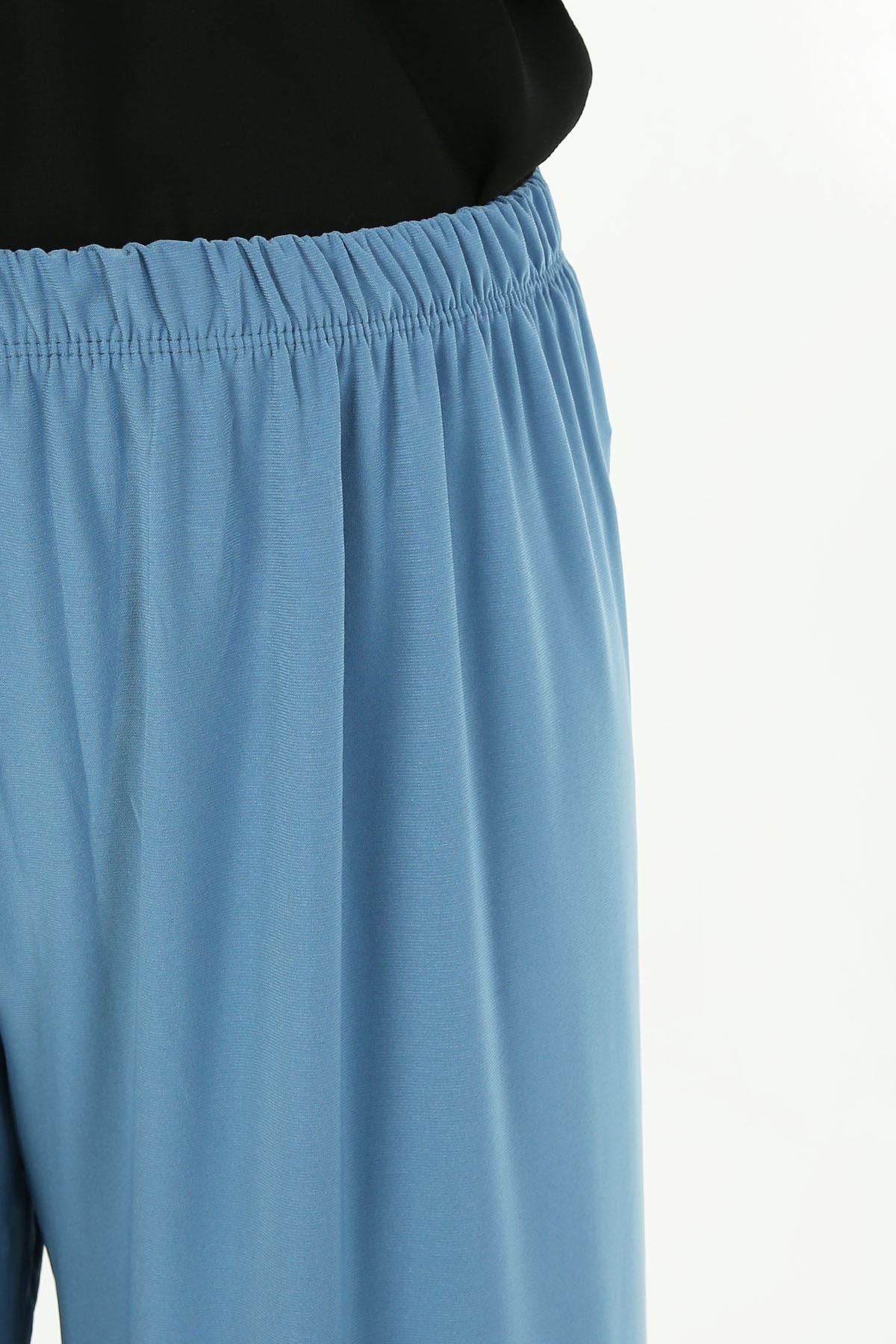 Lastikli Salaş Pantolon-İndigo
