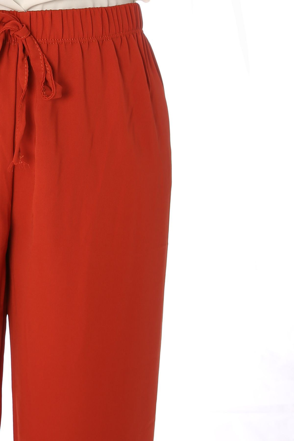 Bel Lastikli Salaş Pantolon-Kiremit