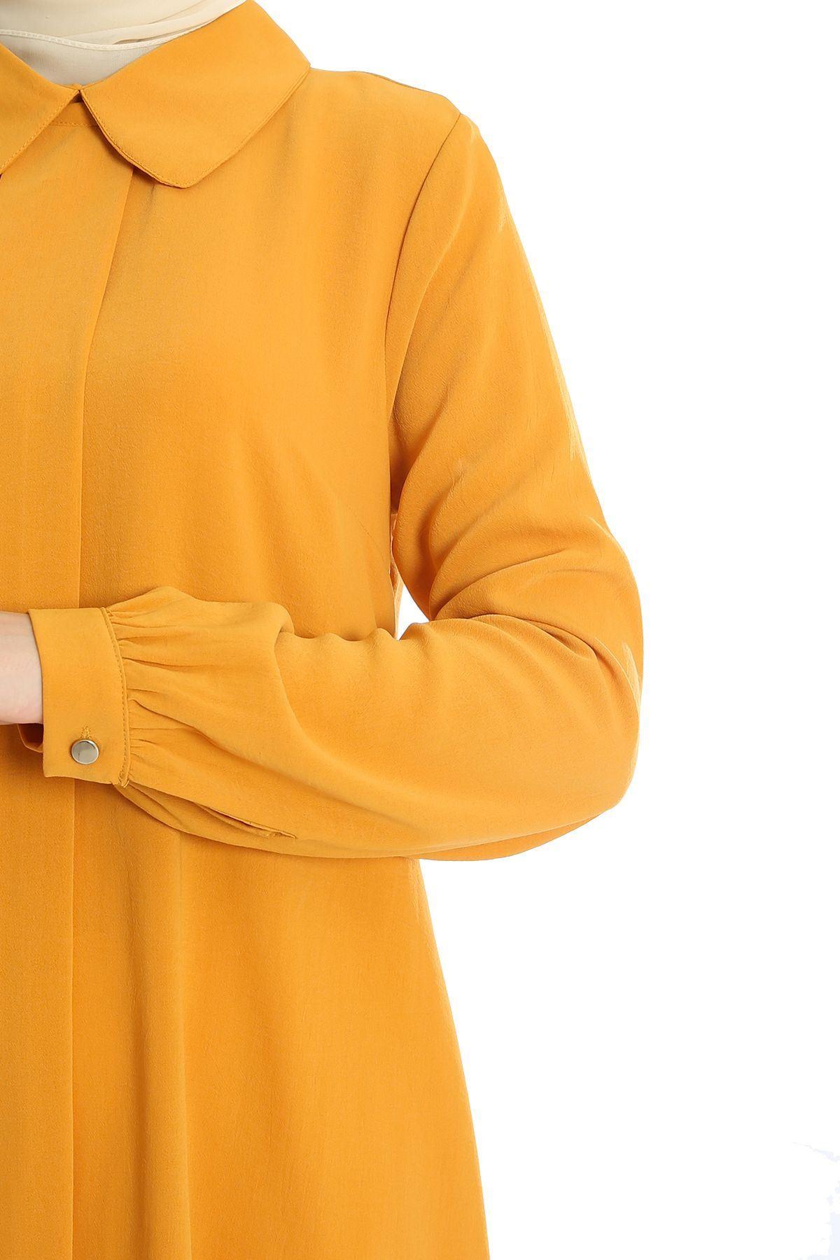 Ön Şerit Detay Tunik-Hardal