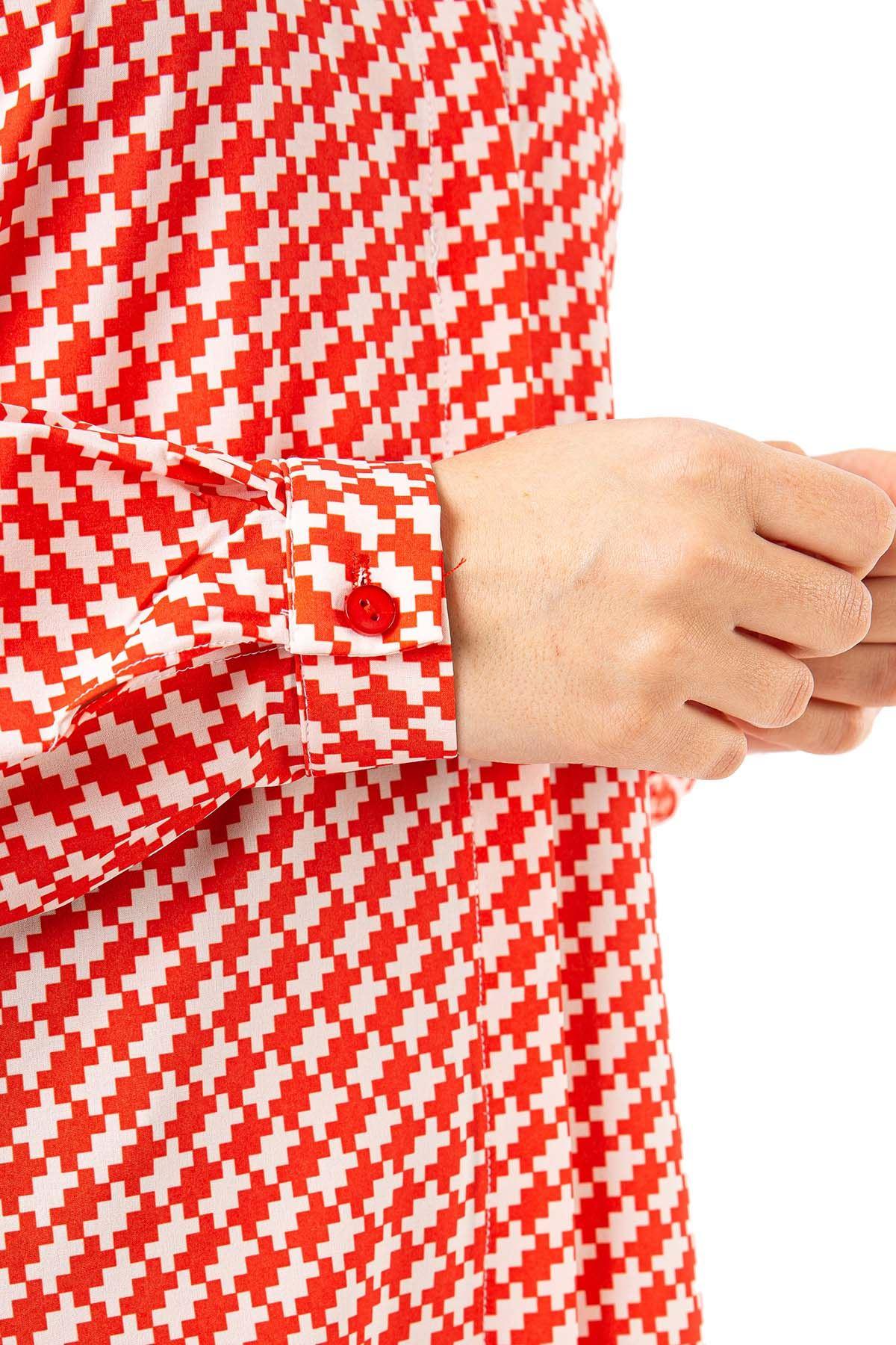 Desenli Tunik-Kırmızı